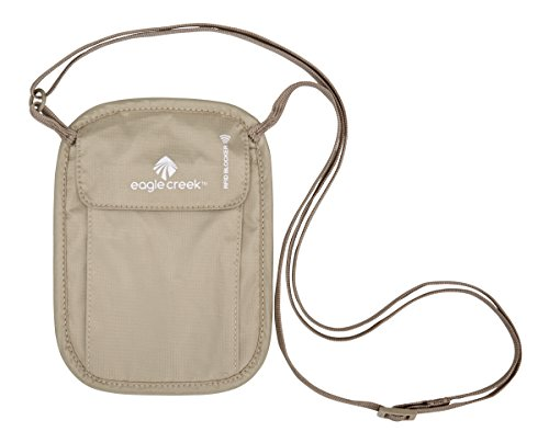 Eagle Creek RFID Blocker Neck Wallet, Beige Pochette Tour de Cou, 18 cm, 0.1 liters, (Tan)