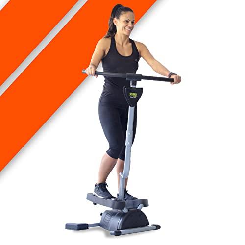 Stepper Fitness Cardio Twister. Ejercita Glúteos, Piernas, Cintura, Abdominales y Brazos. Pantalla Digital de Control.