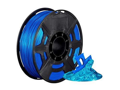 Monoprice 136284 Hi-Gloss 3D Printer Filament PLA 1.75mm - 1kg/Spool - Blue, Works with All PLA Compatible 3D Printers