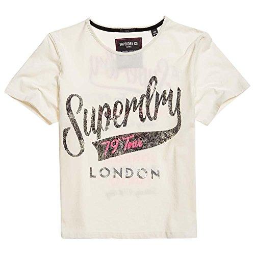 Superdry Damen Kastenförmiges Tour T-Shirt Riffweiß 34
