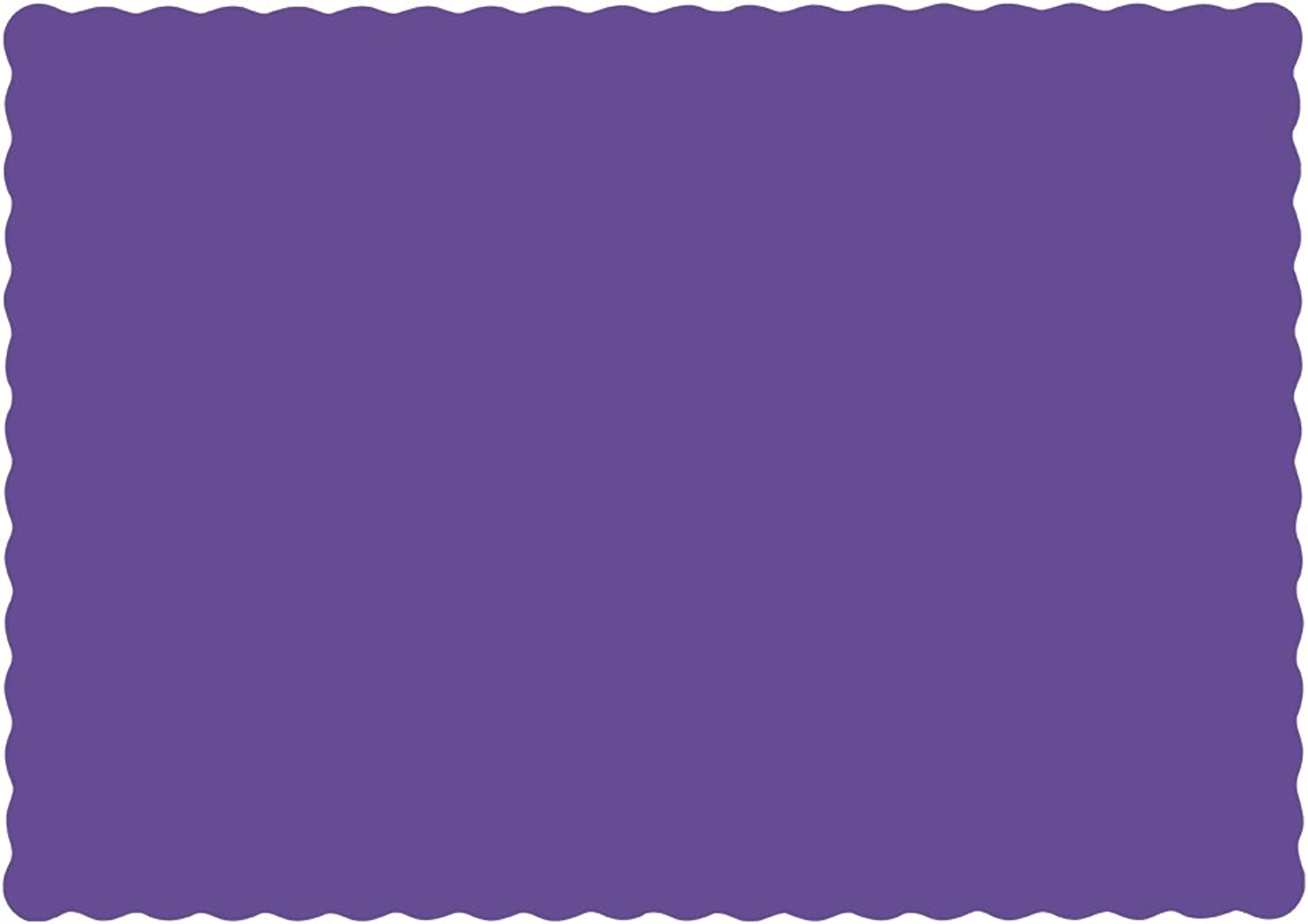Hoffmaster 310557 Paper Placemat, 13-1 2  Length x 9-1 2  Width, Scalloped Edge, Purple (Case of 1000)