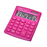 Citizen Calculadora citizen sobremesa sdc-812nrpke eco eficiente solar y a pilas 12 digitos 124x102x25 mm rosa