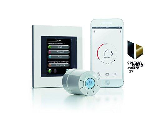 Danfoss Link Starterkit enthält 1 Zentralregler und 3 Connect Thermostate, Farbe weiß, 4 Stück, white, 014G0500 - 4