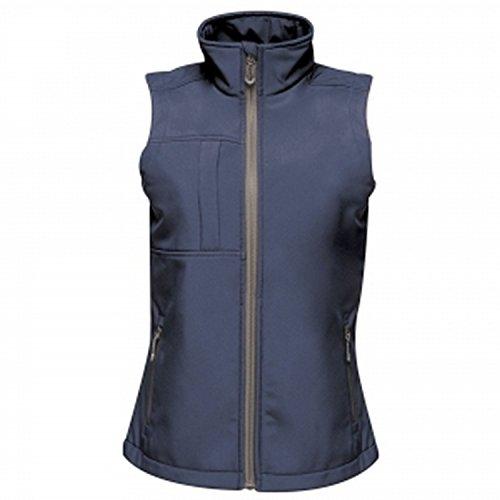 Regatta Gilet Softshell sans manches Imperméable, respirant E Coupe-Vent Octagon II Bodywarmers Femme Bleu (Navy/Seal Grey), 3XL (Taille Fabricant: 22)