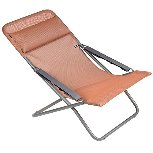 Lafuma Chaise longue, Pliable et réglable, Transabed, Batyline, Couleur: Terracotta, LFM2863-8899