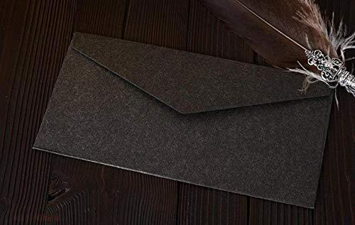 22 * 11cm Weinlese Retro farbiger unbelegter Kraftpapier-Umschlag-Hochzeitsfest-Einladungs-Umschlag-Gruß-Karten-Geschenk-Umschlag, schwarz