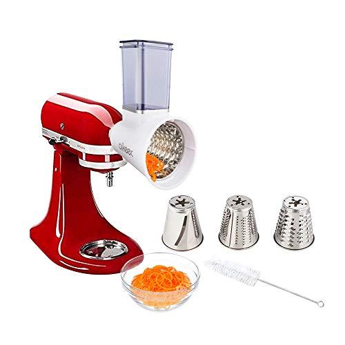 aikeec Aggiornamento Grattugia a cilindri per KitchenAid, Mvsa, Artisan, Accessorio Tritatutto, Accessorio per Robot da Cucina KitchenAid, Acciaio Inossidabile