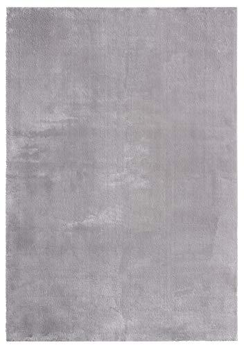 Mia´s Teppiche Olivia - Tappeto per soggiorno, 100% poliestere, grigio, 80 x 150 cm