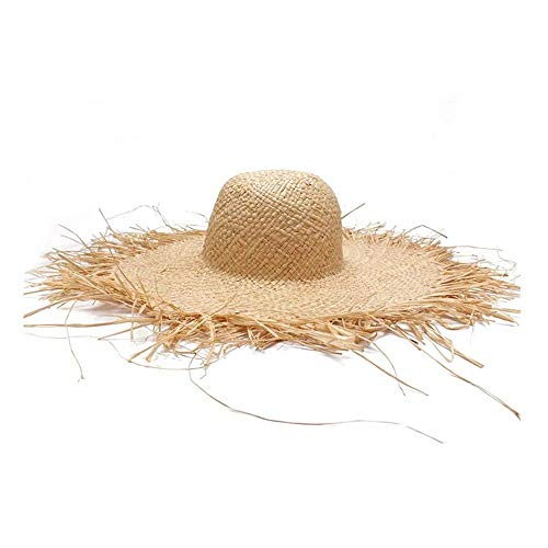 Sombreros de Paja Hechos a Mano para Mujer Sombreros Grandes de ala Ancha RafiaNatural Panama Beach Sombreros de Paja para Vacaciones