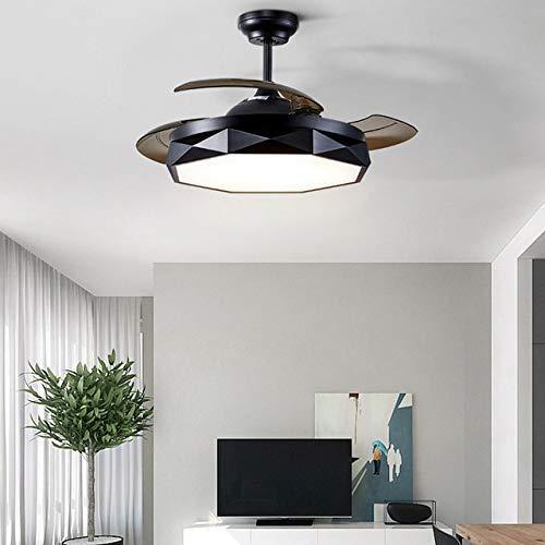 BBZZ Ventilador de techo nórdico moderno e invisible con control remoto de 36 pulgadas y 42 pulgadas, regulador de intensidad regulable, fijación de iluminación decorativa para el hogar, 220 V 110 V