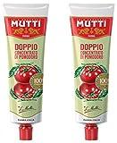 Mutti Pasta de tomate doble concentrada, 200 g, paquete de 2