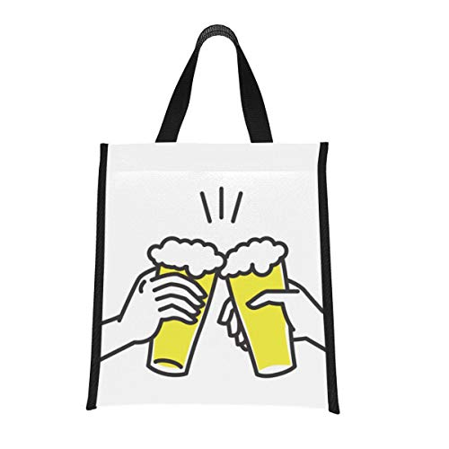 Cooler Bag For Beach Beer Drink Agreed Deal Cheers Cooler Camping Bag Fun Lunchbag Reusable, Foldable Keeps Food Hot/cold For Women,men,school,office