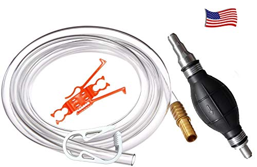 Plumber's Siphon Pro - Gas, Oil, Water - Up to 3.5 Gl. Per Min. ONLY Siphon With Multi-size Tip...