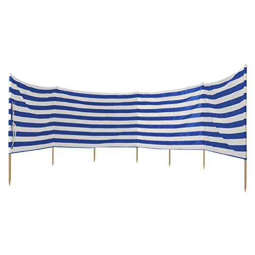 Idena 7570021 - Windschutz ca. 800 x 80 cm, in blau-weiß, für Strand Camping und Garten