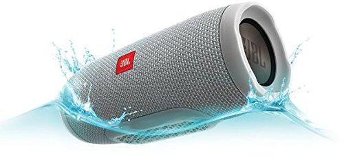 JBL Charge 3 Tragbarer Bluetooth-Lautsprecher Wasserdicht mit 6000 mAh Power Bank und Freisprechfunktion - Grau