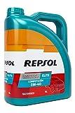 REPSOL 540653 Aceite DE Motor Elite COMPETICIÓN 5W40 5 litros, Transparente, 5L