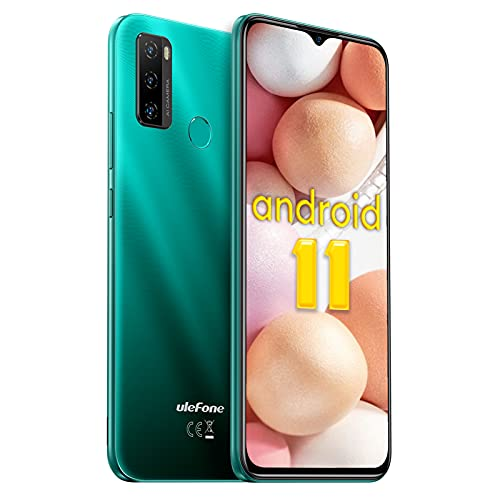 Smartphone Offerta Economici, Ulefone Note 10 Cellulari Offerte, 6.52   Waterdrop Schermo, 128GB Espandibili Smartphone 4G, Batteria 5500mAh, 2GB + 32GB Android 11 Smartphone Offerta del Giorno-Verde
