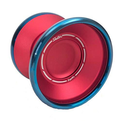 YoYoFactory Shutter BiMetal with Royalty Yoyo Color Red with Blue Ring