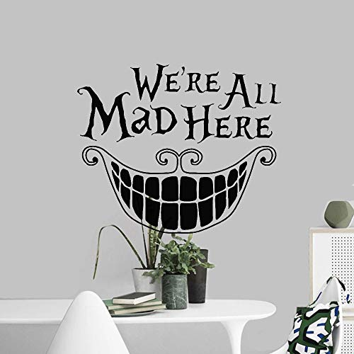 autocollant mural stickers muraux 3d We'Re All Mad Here Sticker décalque mode pour chambre d'enfant chambre d'enfant chambre d'enfant
