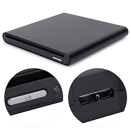 Socobeta Reproductor Bluray USB 3.0 portátil Unidad óptica Externa Grabadora BD-RE Unidad óptica de Alta Velocidad Compatible con Windows7   8 10
