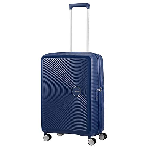 AMERICAN TOURISTER Soundbox - Spinner 55/20 Expandable Suitcase, 55 cm, 35.5 liters, Blue (Midnight Navy)