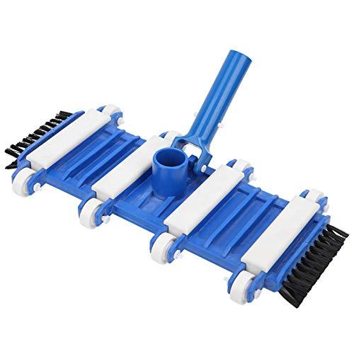 Nivvity Poolreinigungswerkzeug, professioneller Flexibler Poolvakuumkopf mit seitlichen Bürstenrädern Fischteich Poolreinigungswerkzeug