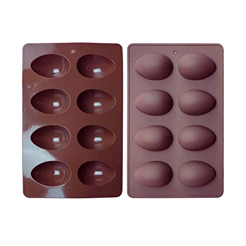 Seii Molde De Silicona para Huevos De Pascua De 8 Tazas Molde De Chocolate De Grado Alimenticio Herramientas para Hornear DIY De Pascua para Huevos Chocolate Dulces Pasteles Gelatina efficient