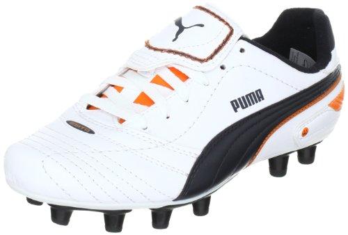 Puma Esito Finale i FG Jr, Botas de fútbol Unisex niños, Blanco (Weiss (White-Dark Navy-Team Orange 05), 39