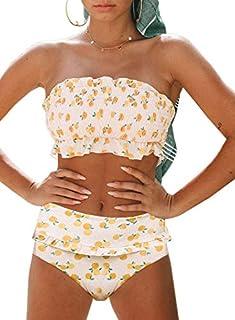Aleumdr Womens 2 Pieces Bandeau Bikini Swimsuits Off...