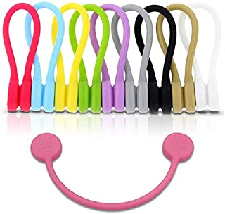 Monster Magnetics TwistieMag Strong Magnetic Twist Ties - Multi Color for Men & Women - 10 Pack - Unique Gadgets for Cable...