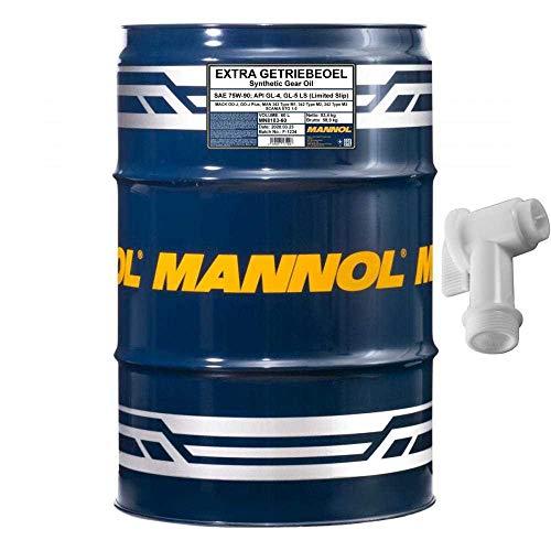 60 L MANNOL Extra Getriebeöl 75W-90 Öl Handschaltgetriebe API GL-4 GL-5 LS Hahn SAE 75W-90API