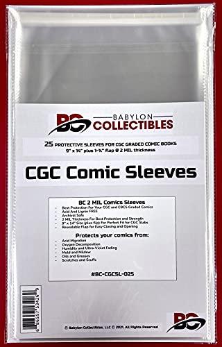 CGC Comic Sleeves 25 Protective Sleeves for CGC & CBCS...
