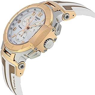 ساعة تيسوت تي- رايس ذهبي وابيض ، صناعة سويسرية للرجال T0484172701200
