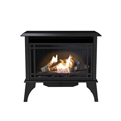 Pleasant Hearth VFS2-PH30DT 30,000 BTU 32 in. Intermediate Gas Vent Free Stove, Black