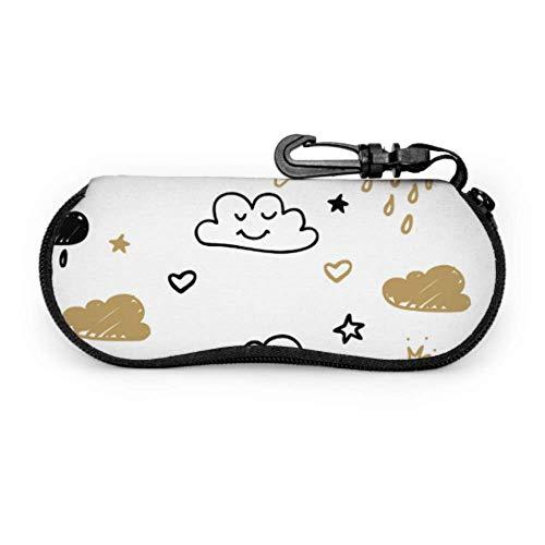 Rain Cloud Smile Funny Outdoor Glasses Case Girls Sunglasses Case Light Portable Zipper Soft Case Eyeglass Case
