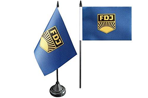 Flaggenfritze Tischflagge/Tischfahne Deutschland DDR FDJ Freie Deutsche Jugend + gratis Aufkleber