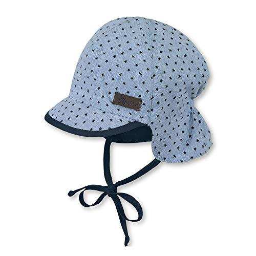 Sterntaler Schirmmütze für Jungen mit Bindebändern und Nackenschutz, Alter: 18-24 Monate, Größe: 51, Hellblau (Himmel)