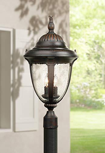 Casa Sierra Traditional Outdoor Post Light Fixture Lantern Bronze 24 1/2