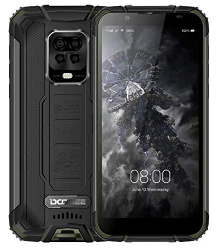 DOOGEE S59 PRO【2021】 Outdoor Handy ohne Vertrag, 10000mAh Akku, Octa Core 4GB+128GB(256GB Externe SD), IP68 Stoßfest Robustes Smartphone, 2W Lautsprecher, 16MP AI Quad-Kamera, DUAL SIM NFC Grün