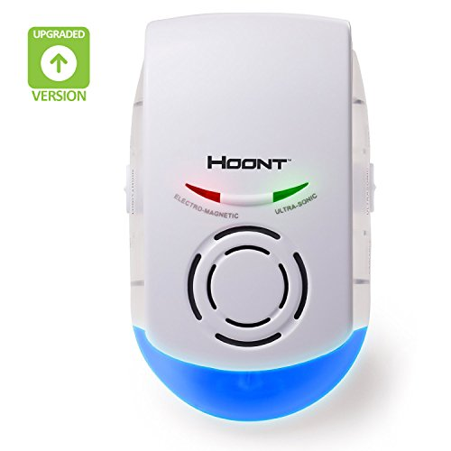 Hoont Indoor Powerful Plug-in Pest Repeller + Night Light – Eliminates Insects and Rodents [UPGRADED VERSION]