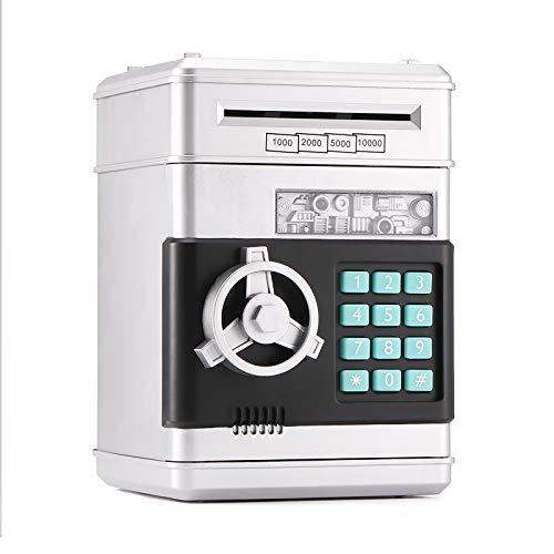 YUNYODA Elektronische Sparbüchse für Kinder, digitale Sparschweinbox mit Passwort Große elektrische Geldautomat Geldautomat Bankautomat, automatische Geldmünzsparkassen für Kinder Geschenke