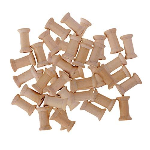 B Baosity 50 Stück Vintage Holzspulen Spulen zum Basteln; Garnspulen aus Holz