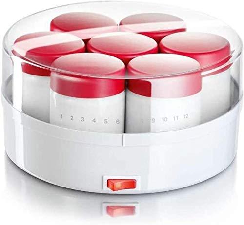 ZXL Joghurtbereiter,Joghurtmaschine Rot Haushalt Automatisch Geteiltes Glas Reis Wein Natto Maschine Große Kapazität Sicherheit und Umweltschutz