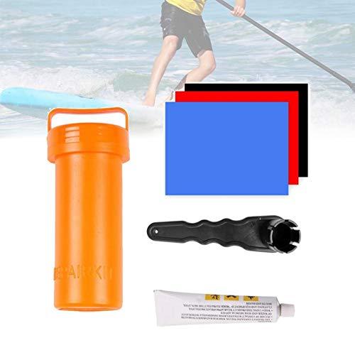 Accesorios de Surf Kit de reparación de Tabla de Paleta para Tablas de Paleta inflables de pie con Adhesivo, Herramienta de reparación Duradera Resistente de PVC, Color al Azar