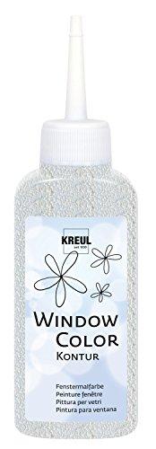 Kreul 42776 - Window Color Konturenfarbe, zur besseren Abgrenzung von Motiven, für glatte Oberflächen wie Glas, Spiegel und Fliesen, 80 ml Malflasche, farblos