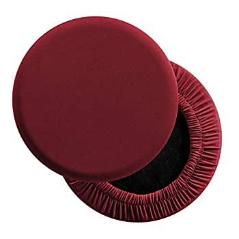 LUSHVIDA Round Bar Stool Covers - Super Soft and Washable Elastic Stool Cushion Slipcover for Dia.12-14  Chair Set of 2