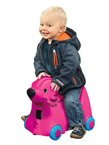 BIG 800055353 – Bobby-Trolley, Kinderkoffer, Kindergepäck, rosa - 4
