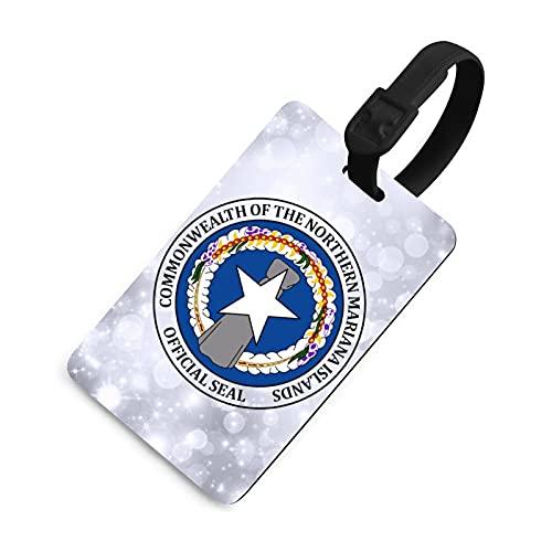 Etiqueta de bagagem Selo das Ilhas Marianas do Norte com cobertura completa de proteção de privacidade