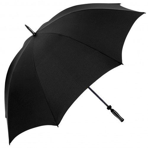 Quadra Pro - Paraguas Modelo Golf cortaviento Premium (Talla Única/Negro)