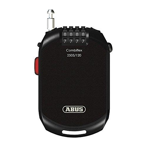 【日本正規品】 ABUS(アブス) 自転車 鍵 ロック ロードバイク鍵 ワイヤーロック ダイヤル式 2年保証 120cm ブラック [COMBIFLEX 2503]